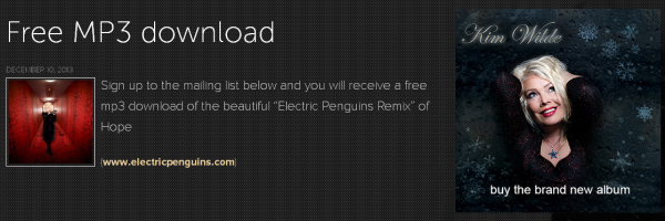 Electric Penguins Remix Kim Wilde